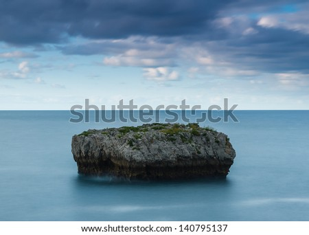 Isla Cotonera, Islares, Cantabria, Spain - stock photo