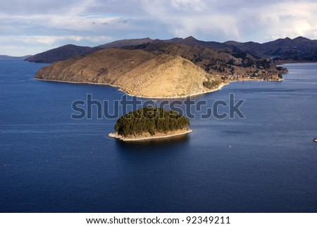 Isla del Sol, Titicaca lake, Bolivia - stock photo
