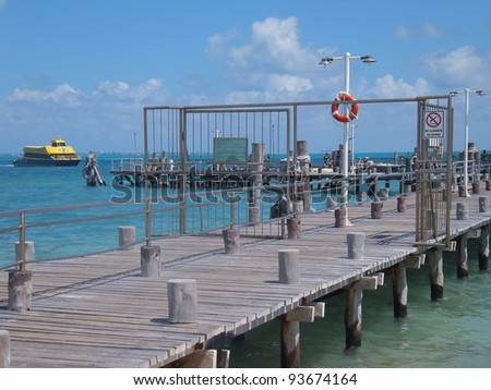 Isla Mujeres, near Cancun, in Mexico - stock photo