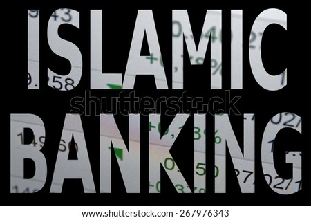 Islamic finance concept. - stock photo