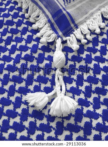 Islamic keffiyah pattern. More of this motif & more fabrics in my port. - stock photo