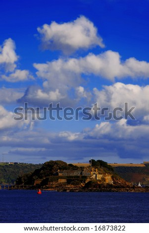 island close Plymouth, UK - stock photo