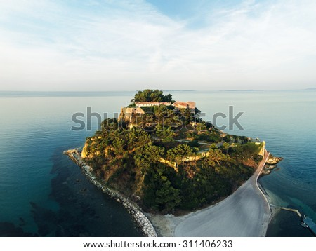 Island France, aerial view - stock photo