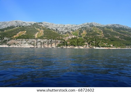 Island Hvar, Panorama - stock photo