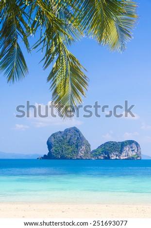 Island Lagoon Exotic Paradise  - stock photo