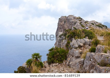 Island of Majorca (Spain) : Cape Formentor - stock photo