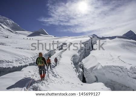 Island Peak(imja tse), Nepal - stock photo