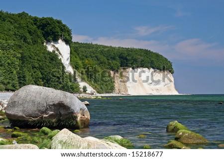 Island Ruegen, Chalk Coast, Germany - stock photo