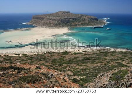 Island view - stock photo