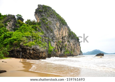Islands and beaches. - stock photo