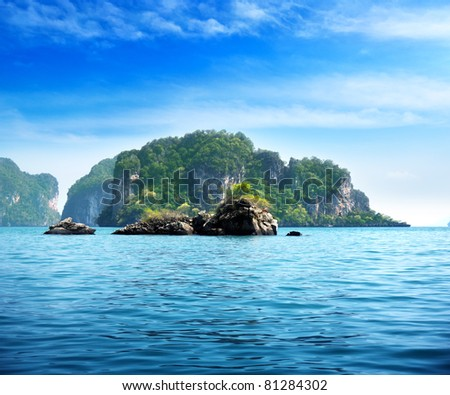 islands in Andaman sea Thailand - stock photo
