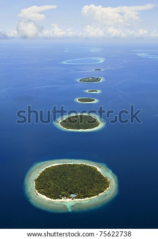 Islands In The Maldives - stock photo