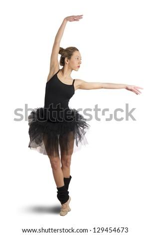 Isolate dancer on white background - stock photo