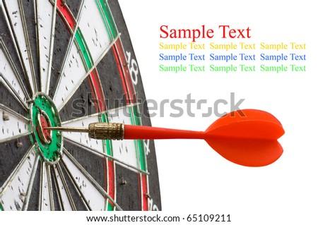 isolate dartboard on white background - stock photo