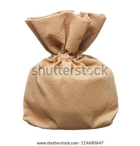 Isolate Fabric Sack - stock photo