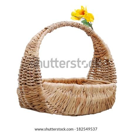 Isolate Handmade Basket - stock photo