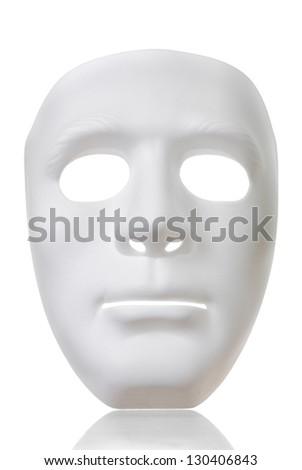 Isolate White Mask - stock photo