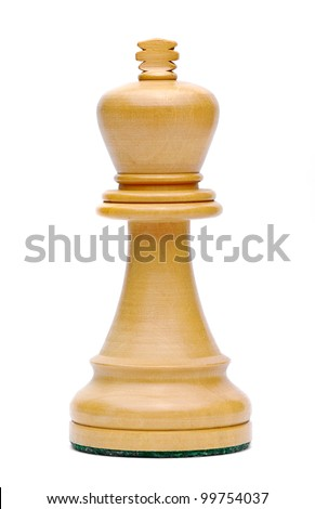 Isolate Wooden King Chess - stock photo