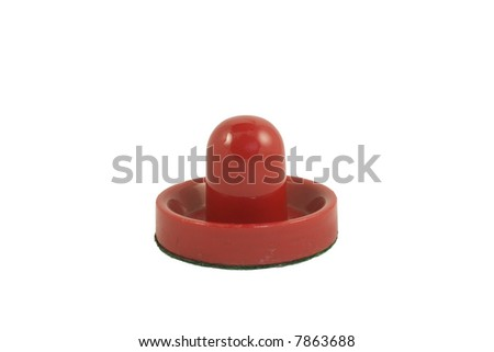 Isolated air hockey mallet - stock photo