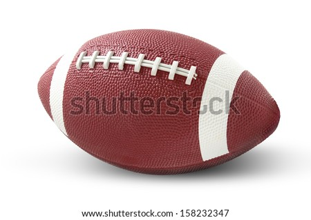 Isolated american football on a white background - stock photo