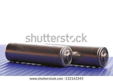 isolated battery on white Energy supply equipment. - stock photo
