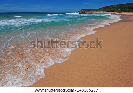 Isolated Beach in New South Wales, Australia - stock photo