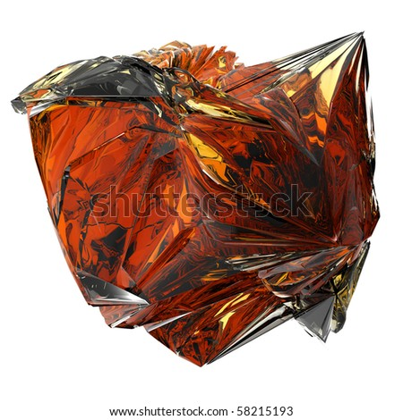 isolated beautiful crystal (big collection) - stock photo