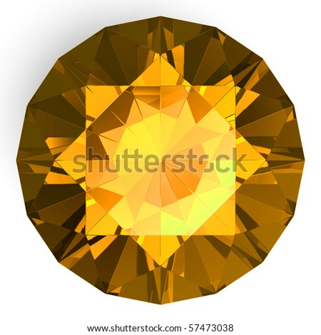 isolated beautiful gem (big collection) - stock photo