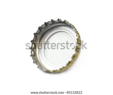 isolated beer bottle cap - stock photo