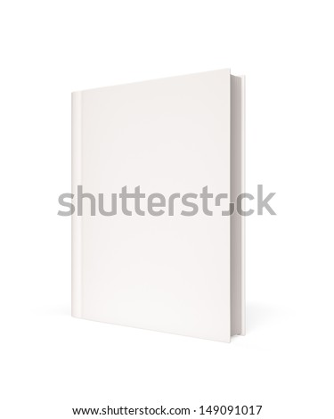 Isolated Blank Book with copy space  - stock photo