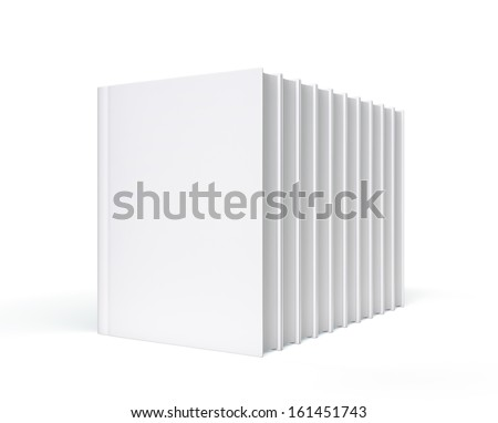 Isolated Blank Books with copy space  - stock photo