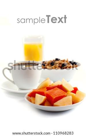 Isolated Breakfast - stock photo