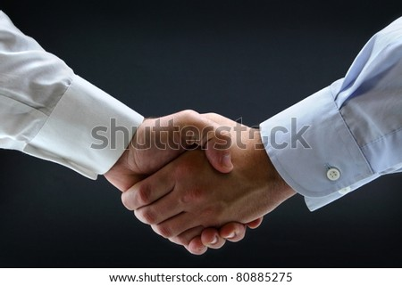 Isolated business handshake - stock photo
