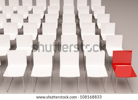 isolated chairs - stock photo