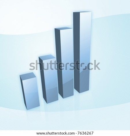 isolated charts high resolution. Ladder style, ascending. - stock photo