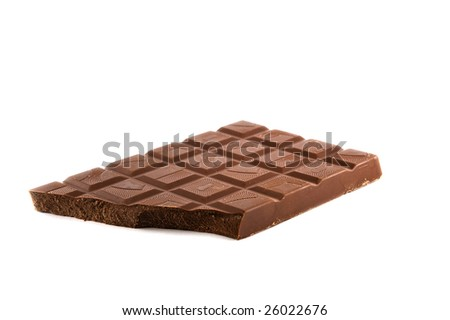 Isolated chocolate - stock photo