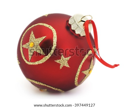 Isolated christmas ornament on a white background - stock photo