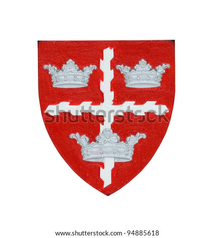 Isolated Coat of arms of Colchester - stock photo