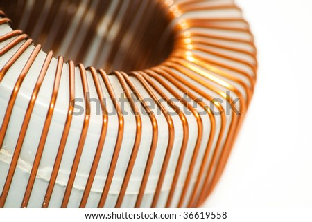 Isolated coil on white background - stock photo