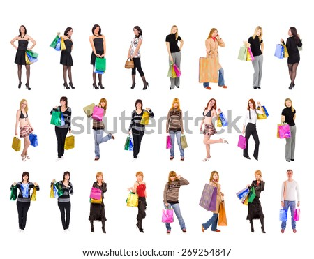 Isolated Concept Presents Bought  - stock photo