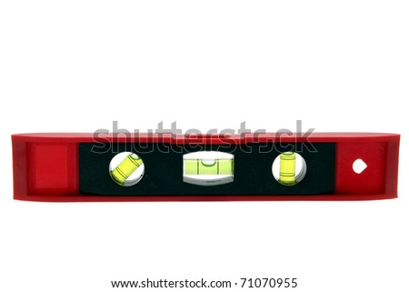 isolated construction water level - stock photo