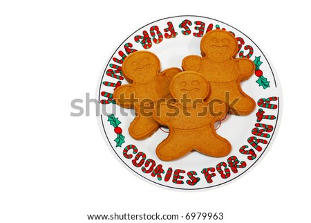 Isolated Cookies for santa - stock photo