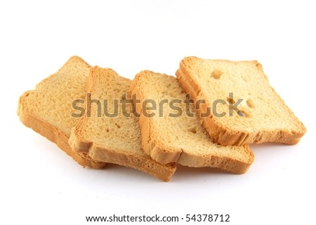 Isolated crackers in a white background - stock photo