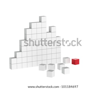 isolated 3d concept of Wall - stock photo