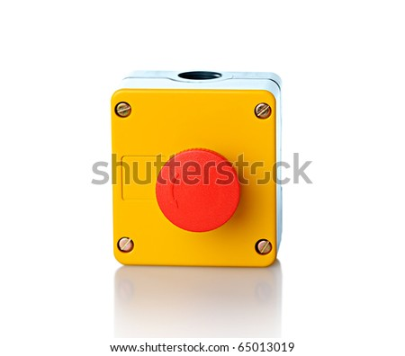isolated electronic control element (switch) - stock photo