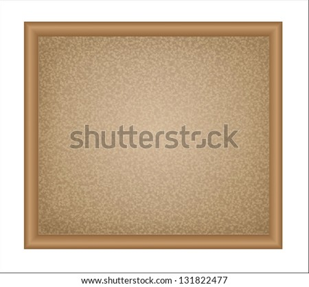 Isolated empty cork board for notes - stock photo