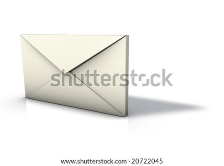 Isolated Envelope icon - stock photo