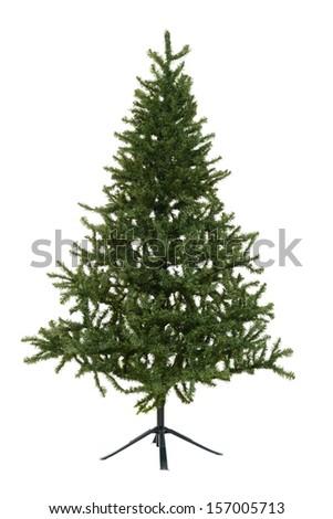 isolated fake Christmas tree - stock photo