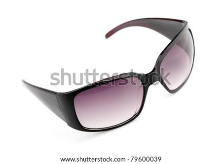 Isolated fashion sunglasses on white background - stock photo
