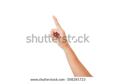 isolated female hands touch  - stock photo